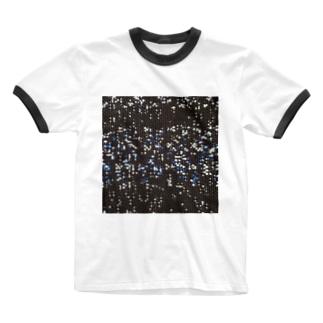 雪と蒼/カヨサトーTX Ringer T-shirts