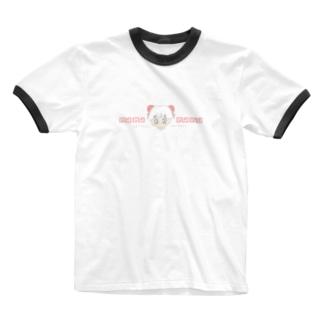 なまくびちゃん。のちゃいな。 Ringer T-shirts