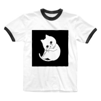ぽろぽろネコ Ringer T-shirts