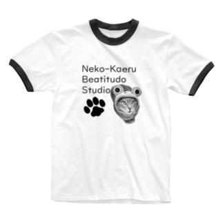 コスプレ猫のカエルさん Ringer T-shirts