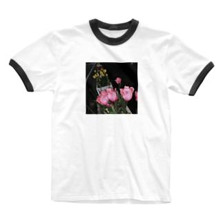 毒色チューリップ Ringer T-shirts