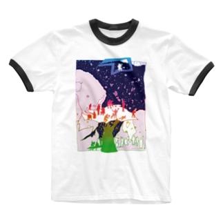 River of heaven-tsc01 Ringer T-shirts