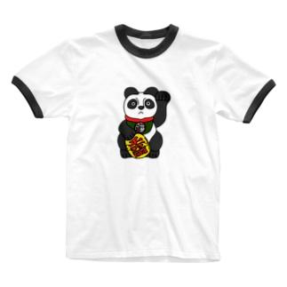 招大熊猫 Ringer T-shirts
