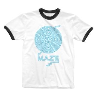 maze-logo / 迷路ロゴ  Ringer T-shirts