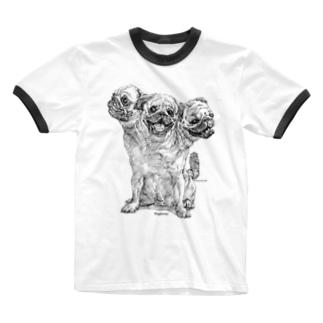 Pugberus Ringer T-shirts