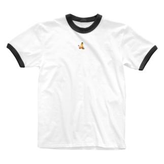 もぐら2段くん 中心ver Ringer T-shirts