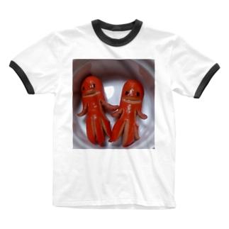 ソーセー人 Ringer T-shirts