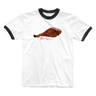 おいしい原木 Ringer T-shirts