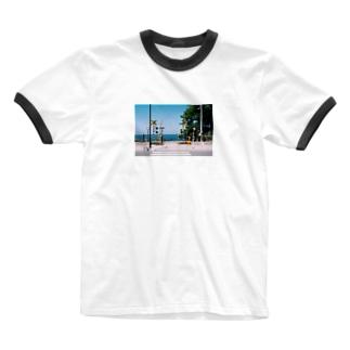 りんごちゃんのフォトT〜踏切〜 Ringer T-shirts
