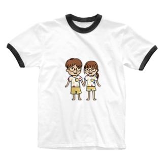 カップル Ringer T-shirts