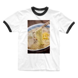 味噌ラーメン Ringer T-shirts