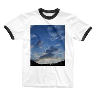 青空 Ringer T-shirts