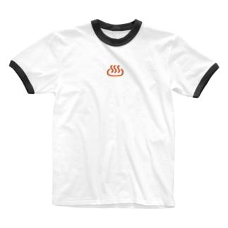 温泉マーク Ringer T-shirts