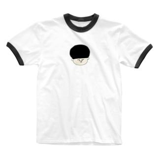 おかっぱくんカラーTシャツ Ringer T-shirts