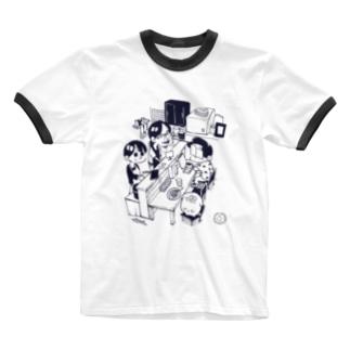 しあわせジョン×アトリ コラボTシャツ Ringer T-shirts