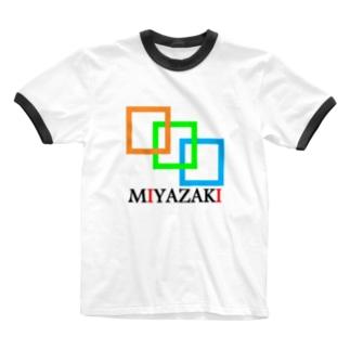 mIyazakI(宮崎) Ringer T-shirts