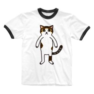 ねこのごまおはぎ Ringer T-shirts