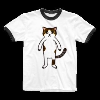 ねこのごまおはぎのねこのごまおはぎ Ringer T-shirts