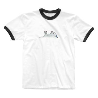 オポッさん Ringer T-shirts