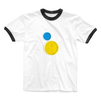 線から出ても良いよ Ringer T-shirts