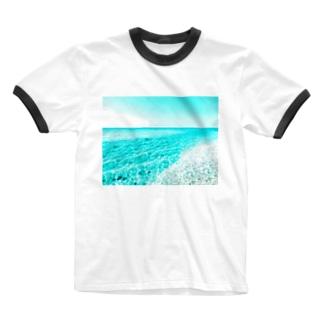 台南の海 Ringer T-shirts