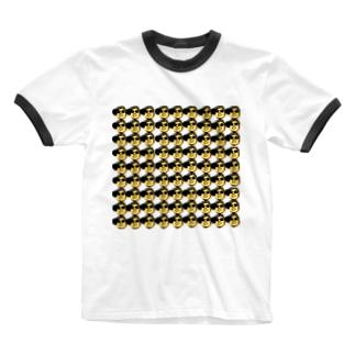 「キモ!顔爆」シリーズ Ringer T-Shirt