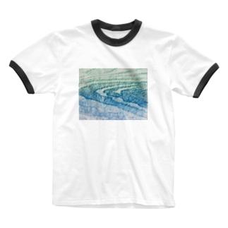 水面Ⅴ Ringer T-shirts