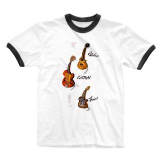 guitars Ringer T-shirts