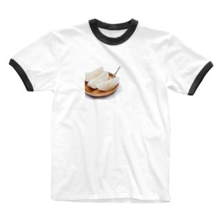 梨、切れたわよ〜 T-shirt Ringer T-shirts