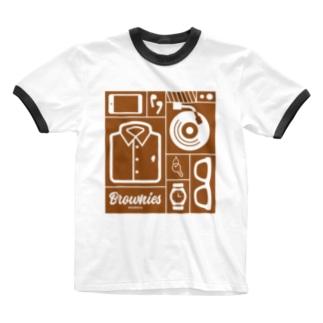 Brownies Works引き出し Ringer T-shirts