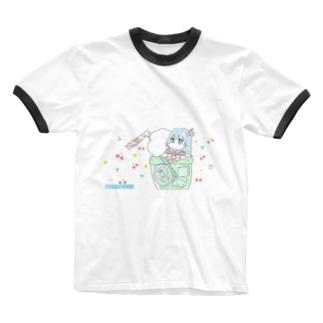クリームソーダプール Ringer T-shirts