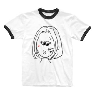 すまし顔の私 Ringer T-shirts