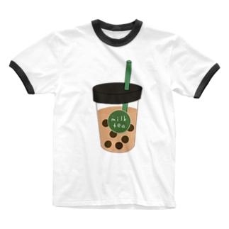 タピオカミルクティー Ringer T-shirts