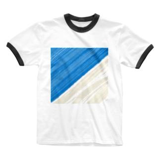 海岸線 Ringer T-shirts