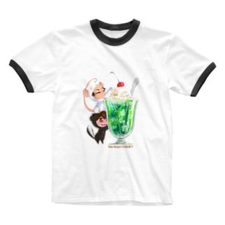 きぐるみーず(クリームソーダ) Ringer T-shirts