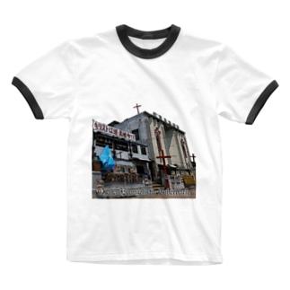 大阪救霊会館 Ringer T-shirts