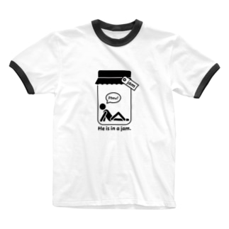 おもしろ英語表現(be in a jam) Ringer T-shirts