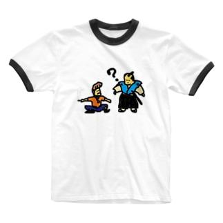 タイムトラベル お侍とヤンキー Ringer T-shirts