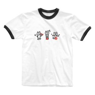 家でもくもくトレーニング Ringer T-shirts