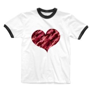 アートハート Ringer T-shirts