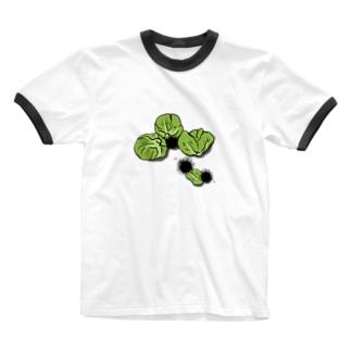 うにうにキャベツ Ringer T-shirts
