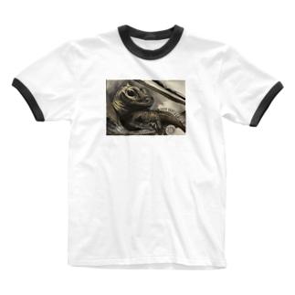 tashiroriekoホカケトカゲ Ringer T-shirts