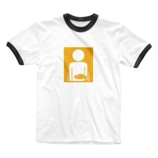 腹痛持ちマーク Ringer T-shirts