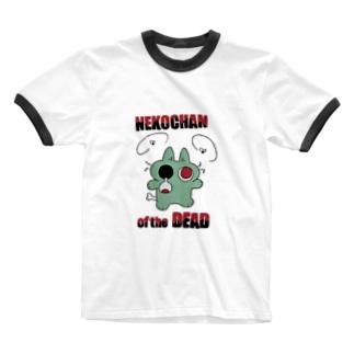 ゾンビネコちゃん Ringer T-shirts