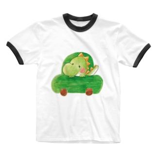 ぶーぶー恐竜くん Ringer T-shirts