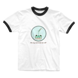 チョコミントケーキの作り方 Ringer T-shirts