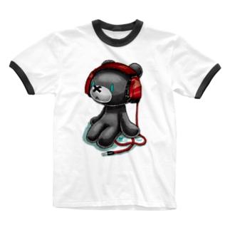 NO MUSIC Ringer T-shirts