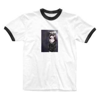 夜中のコンビニ Ringer T-shirts
