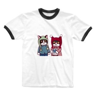 まつり・ミコトの青い鳥 Ringer T-shirts