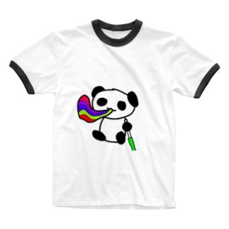 カラフルシーシャぱんだ Ringer T-shirts